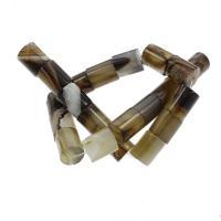 Streifen Achat Perle, Zylinder, 15x19mm, Bohrung:ca. 2mm, ca. 22PCs/Strang, verkauft per ca. 16.1 ZollInch Strang