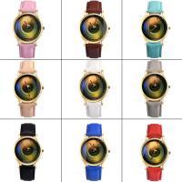 Damen Armbanduhr, PU Leder, mit Glas & Edelstahl & Zinklegierung, goldfarben plattiert, für Frau, keine, 36x8mm, Länge:ca. 9 ZollInch, verkauft von PC