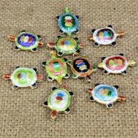 Cloisonne Perlen, Cloisonné, Schildkröter, handgemacht, keine, 19x14mm, Bohrung:ca. 2mm, 10PCs/Tasche, verkauft von Tasche