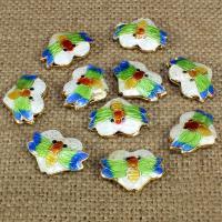 Cloisonne Perlen, Cloisonné, Biene, handgemacht, 20x15mm, Bohrung:ca. 1.5mm, 10PCs/Tasche, verkauft von Tasche