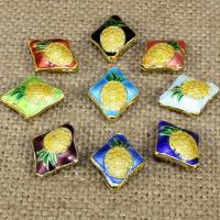 Cloisonne Perlen, Cloisonné, handgemacht, keine, 18x14mm, Bohrung:ca. 1.5mm, 10PCs/Tasche, verkauft von Tasche