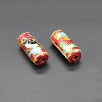 Cloisonne Perlen, Cloisonné, Zylinder, handgemacht, keine, 23x19mm, Bohrung:ca. 1.5mm, 10PCs/Tasche, verkauft von Tasche