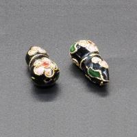 Cloisonne Perlen, Cloisonné, Kalebasse, handgemacht, keine, 20x9mm, Bohrung:ca. 1.5mm, 10PCs/Tasche, verkauft von Tasche