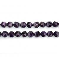 Natürliche Amethyst Perlen, verschiedene Größen vorhanden & facettierte, Bohrung:ca. 1.5mm, verkauft per ca. 16 ZollInch Strang
