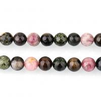 Turmalin Perle, rund, natürliche & verschiedene Größen vorhanden & glatt, Bohrung:ca. 1.1mm, verkauft per ca. 16 ZollInch Strang