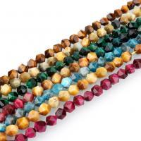 Tigerauge Perlen, natürliche & verschiedene Größen vorhanden & facettierte, keine, Bohrung:ca. 1.5mm, verkauft per ca. 15 ZollInch Strang
