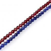 Mischedelstein Perlen, Edelstein, natürliche & verschiedenen Materialien für die Wahl & facettierte, 3x3.50mm, Bohrung:ca. 0.8mm, ca. 127PCs/Strang, verkauft per ca. 15.5 ZollInch Strang