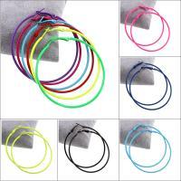 Herren Edelstahl Kreolen, Zinklegierung, Edelstahl Stecker, Kreisring, Einbrennlack, für Frau, keine, frei von Blei & Kadmium, 59x63x2mm, verkauft von Paar