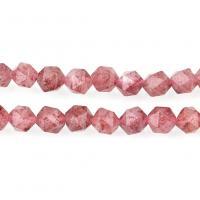 Strawberry Quartz Perle, natürliche & verschiedene Größen vorhanden & facettierte, Bohrung:ca. 1mm, verkauft per ca. 15 ZollInch Strang