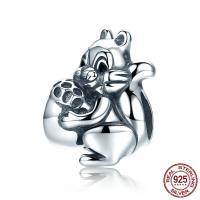 Thailand European Perlen, Eichhörnchen, ohne troll, 11x13mm, Bohrung:ca. 4.5-5mm, verkauft von PC