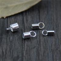 925 Sterling Silber Endkappe, verschiedene Größen vorhanden, 30PCs/Menge, verkauft von Menge