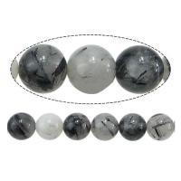 Perle, rund, natürlich, 8mm, Bohrung:ca. 0.8mm, ca. 48PCs/Strang, verkauft per ca. 15.5 ZollInch Strang