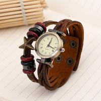 Armbanduhr, mit Holz & Zinklegierung, unisex & einstellbar & Multi-Strang, 210x22mm, Länge:ca. 8 ZollInch