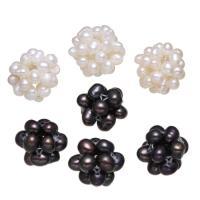 Ball Cluster Zuchtperlen, Natürliche kultivierte Süßwasserperlen, keine, 12-20mm, Bohrung:ca. 2mm, verkauft von PC