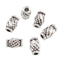 Zink Legierung Perlen Schmuck, Zinklegierung, Trommel, antik silberfarben plattiert, frei von Blei & Kadmium, 6x9x5mm, Bohrung:ca. 2mm, 20PCs/Tasche, verkauft von Tasche