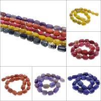 Feuerachat Perle, keine, 15x21mm-13x19mm, Bohrung:ca. 2mm, ca. 20PCs/Strang, verkauft per ca. 16.1 ZollInch Strang