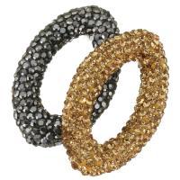 Strass Ton befestigte Perlen, keine, 35x23x7mm, Bohrung:ca. 1mm, 10PCs/Menge, verkauft von Menge