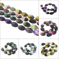 Zwei Ton Achat Perlen, Zweifarbiger Achat, keine, 21x31x9mm-18x28x5mm, Bohrung:ca. 2mm, 13PCs/Strang, verkauft per ca. 15.7 ZollInch Strang