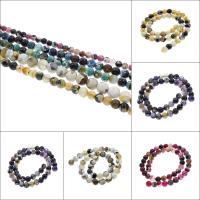 Feuerachat Perle, rund, verschiedene Größen vorhanden, keine, Bohrung:ca. 0.5-1mm, verkauft per ca. 15.7 ZollInch Strang