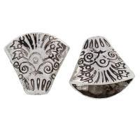 Zinklegierung Perlenkappe, antik silberfarben plattiert, frei von Blei & Kadmium, 20x19x11mm, Bohrung:ca. 1mm, 10PCs/Tasche, verkauft von Tasche