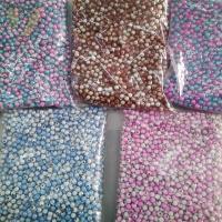 Traumhafte Acrylperlen, Acryl, rund, verschiedene Größen vorhanden & zweifarbig, Bohrung:ca. 1-2mm, verkauft von Tasche