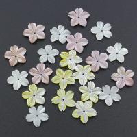 Muschel Perle, Blume, verschiedenen Materialien für die Wahl, 14x14x2mm, Bohrung:ca. 0.5mm, 30PCs/Tasche, verkauft von Tasche