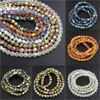 Runde Kristallperlen, Kristall, verschiedene Größen vorhanden & facettierte & satiniert, mehrere Farben vorhanden, verkauft von Strang