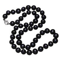 Natürliche kultivierte Süßwasserperlen Halskette, Messing Karabinerverschluss, Kartoffel, für Frau, keine, 7-8mm, verkauft per ca. 16-18 ZollInch Strang