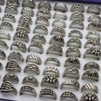Zinklegierung Fingerring , antik silberfarben plattiert, unisex & gemischt, frei von Blei & Kadmium, 24x28x13mm-22x24x8mm, Größe:6-9, 100PCs/Box, verkauft von Box