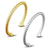 Messing-Armbänder, Messing, plattiert, offen & für Frau, keine, frei von Nickel, Blei & Kadmium, 5mm, Innendurchmesser:ca. 60mm, Länge:ca. 7 ZollInch, verkauft von PC