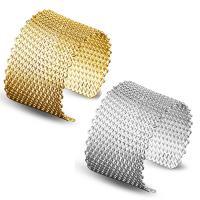 Messing-Armbänder, Messing, plattiert, offen & für Frau, keine, frei von Nickel, Blei & Kadmium, 41mm, Innendurchmesser:ca. 60mm, Länge:ca. 7 ZollInch, verkauft von PC