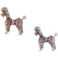 Strass Brosche, Zinklegierung, Hund, plattiert, für Frau & mit Strass, keine, frei von Nickel, Blei & Kadmium, 37x37mm, verkauft von PC