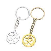 Schlüsselanhänger, Zinklegierung, mit Eisen Ring, OM Zeichen, plattiert, unisex, keine, frei von Blei & Kadmium, 75mm, verkauft von PC