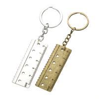 Schlüsselanhänger, Zinklegierung, mit Eisen Ring, Lineal, plattiert, unisex, keine, frei von Blei & Kadmium, 110mm, verkauft von PC