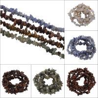 Mischedelstein Perlen, Edelstein, verschiedenen Materialien für die Wahl, 3x5x4mm-11x7x8mm, Bohrung:ca. 1mm, ca. 240PCs/Strang, verkauft per ca. 31.5 ZollInch Strang