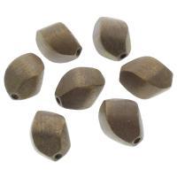Holzperlen, Holz, 16x16x23mm, Bohrung:ca. 3mm, 100PCs/Tasche, verkauft von Tasche