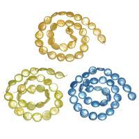 Münze Süßwasser Zuchtperlen, Natürliche kultivierte Süßwasserperlen, Knopf -Form, keine, 11-12mm, Bohrung:ca. 0.8mm, verkauft per ca. 15 ZollInch Strang