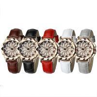 Damen Armbanduhr, Zinklegierung, mit Leder & Glas, für Frau & mit Strass, keine, frei von Blei & Kadmium, 38x14mm, Länge:ca. 7 ZollInch, verkauft von PC