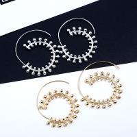 Zinklegierung Ohrringe, Edelstahl Stecker, Spirale, plattiert, für Frau, keine, frei von Blei & Kadmium, 38x48mm, verkauft von Paar