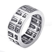 Edelstahl Herren-Fingerring, Titanstahl, poliert, verschiedene Größen vorhanden & für den Menschen & Schwärzen, 9mm, Bohrung:ca. 15mm, verkauft von PC