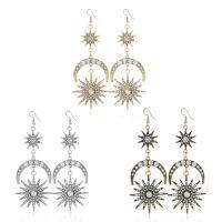 Zinklegierung Ohrringe, plattiert, für Frau & mit Strass, keine, frei von Nickel, Blei & Kadmium, 36mm, 38x105mm, 20mm, verkauft von Paar