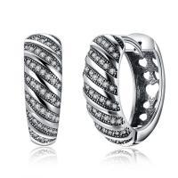 comeon® Schmuck Ohrring, Thailand, Micro pave Zirkonia & für Frau, 7x19mm, verkauft von Paar