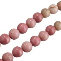Rhodonit Perle, rund, natürliche, 9mm, Bohrung:ca. 0.6mm, ca. 48PCs/Strang, verkauft per ca. 15 ZollInch Strang