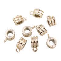 Zinklegierung Stiftöse Perlen, Rohr, goldfarben plattiert, frei von Blei & Kadmium, 6x14x9mm, Bohrung:ca. 2mm,5mm, 10PCs/Tasche, verkauft von Tasche