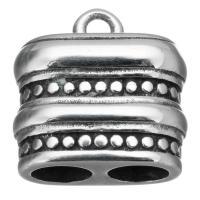 Edelstahl Armband Zubehör, Schwärzen, 15x15x8.50mm, Bohrung:ca. 1.6mm, 4.5mm, 10PCs/Menge, verkauft von Menge