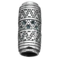 Edelstahl Magnetverschluss, Schwärzen, 13x29x13mm, Bohrung:ca. 7.8mm, 8mm, 10PCs/Menge, verkauft von Menge