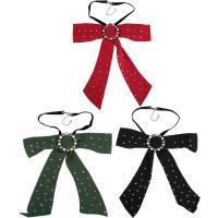Satinband Halskette, mit Kunststoff Perlen & Zinklegierung, mit Verlängerungskettchen von 3.1lnch, plattiert, für Frau & mit Strass, keine, frei von Nickel, Blei & Kadmium, 260mm, verkauft per ca. 15.7 ZollInch Strang