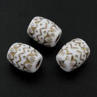 Volltonfarbe Acryl Perlen, 13x10mm, Bohrung:ca. 3mm, ca. 530PCs/Tasche, verkauft von Tasche