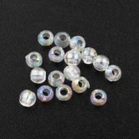 Transparente Acryl-Perlen, Acryl, 3mm, Bohrung:ca. 0.5mm, ca. 3800PCs/Tasche, verkauft von Tasche