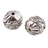 Verkupfertes Kunststoff-Perlen, Verkupferter Kunststoff, Trommel, antik silberfarben plattiert, 23x24mm, Bohrung:ca. 2mm, 10PCs/Tasche, verkauft von Tasche